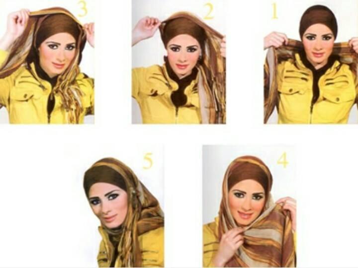 طريقه لف #الحجاب للوجه الصغير #موضه #ستايل -1