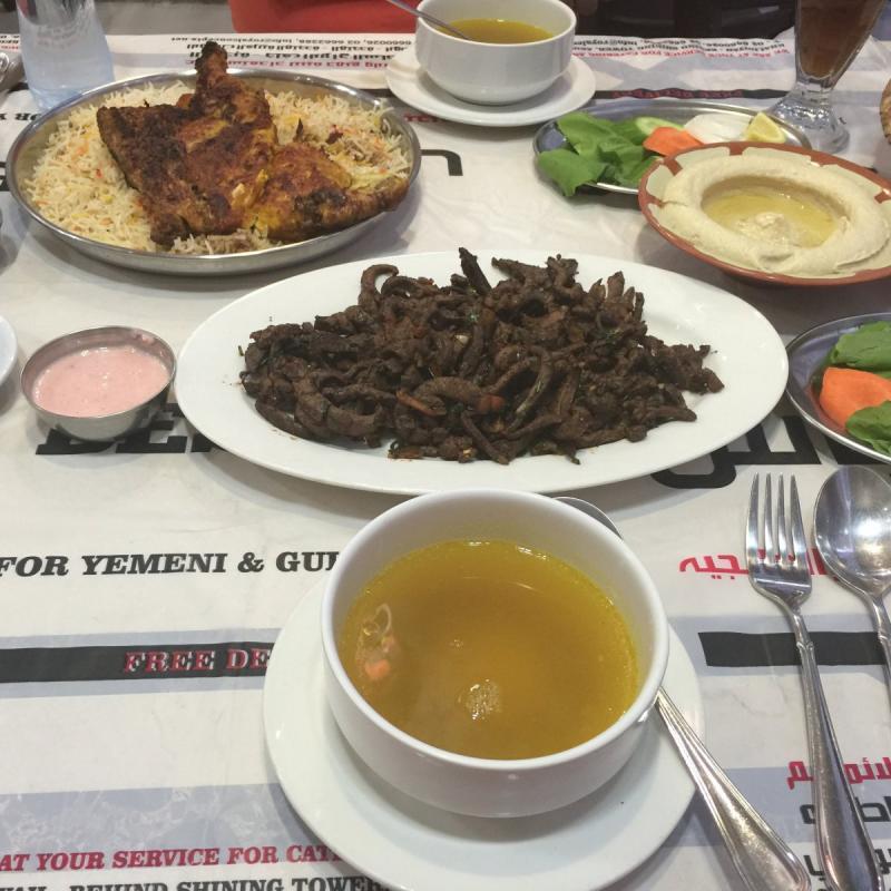 مطعم بسباس - كبدة ومظبي دجاج - الخالدية #أبوظبي