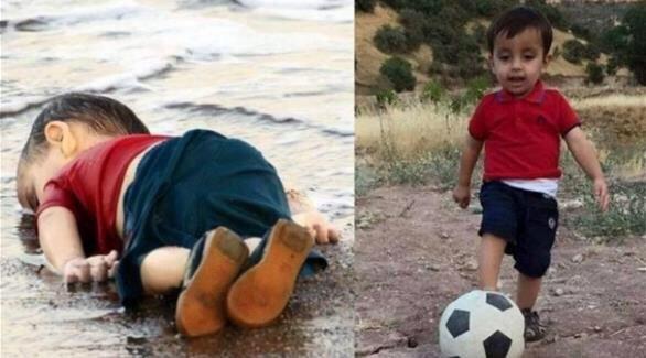 صورة الطفل #عيلان_الكردي قبل وفاته #غرق_طفل_سوري