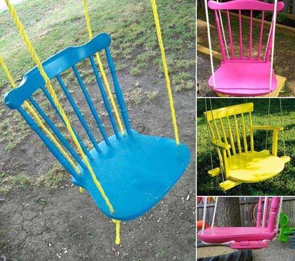 افكار لاعادة تجديد الكراسي ال#قديمة او لاستغلالها في اشياء اخرى صوره 1