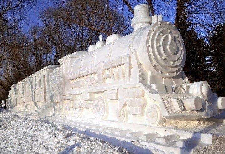 #تماثيل_الثلج بين الدقة وضخامة التصاميم #غرد_بصوره 5