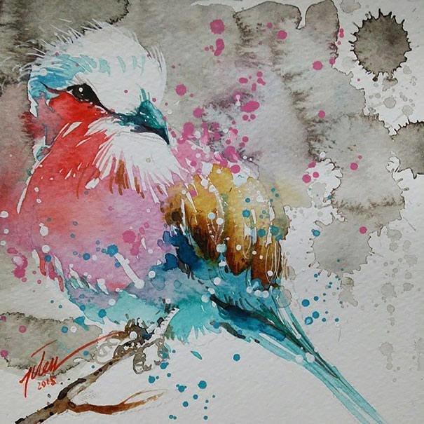 سحر #الألوان_المائية في لوحات الرسام السنغافوري #تيلان_تي #غرد_بصوره 2