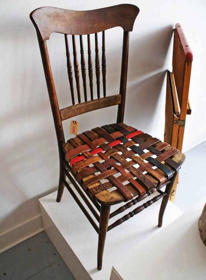افكار لاعادة تجديد الكراسي ال#قديمة او لاستغلالها في اشياء اخرى صوره 3