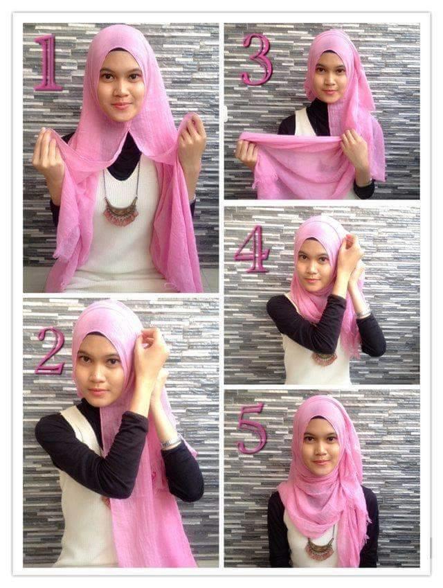 طرق أنيقه للف #الحجاب للوجه الدآئري -2