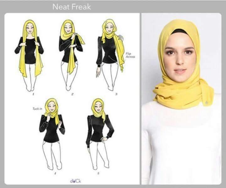 طرق أنيقه للف #الحجاب للوجه الطويل-6