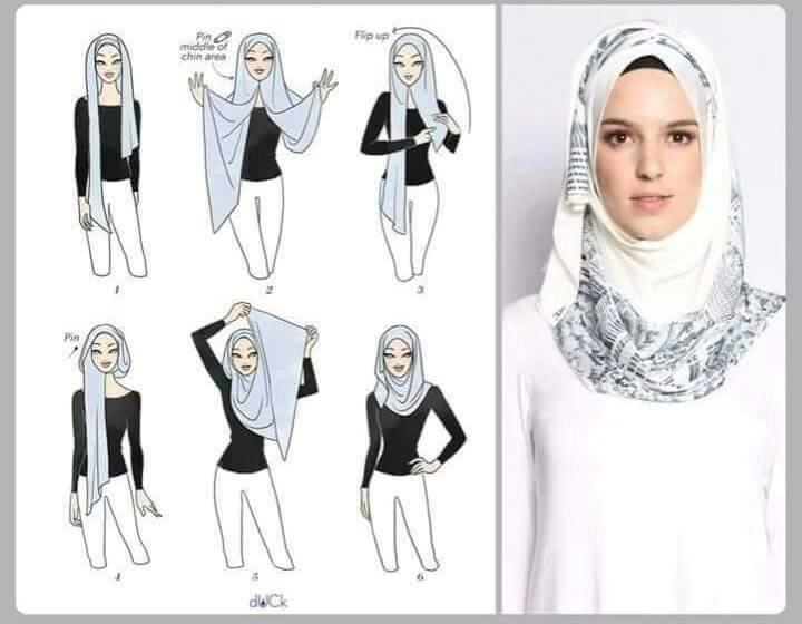 طرق أنيقه للف #الحجاب للوجه الطويل-4