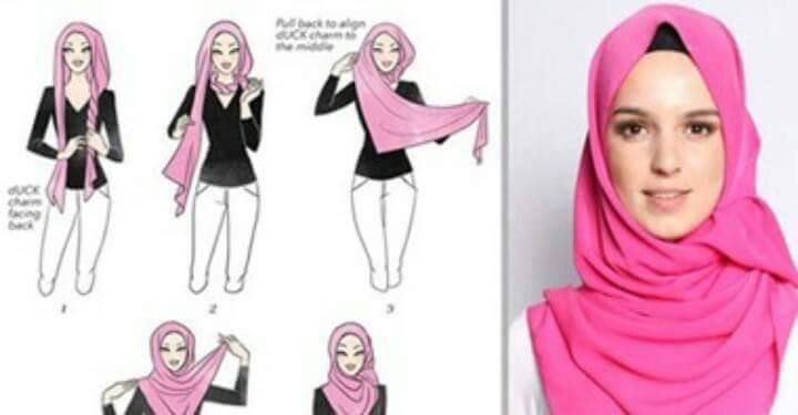 طرق أنيقه للف #الحجاب للوجه الطويل-5