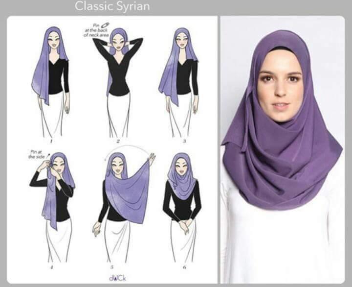 طرق أنيقه للف #الحجاب للوجه الطويل-3