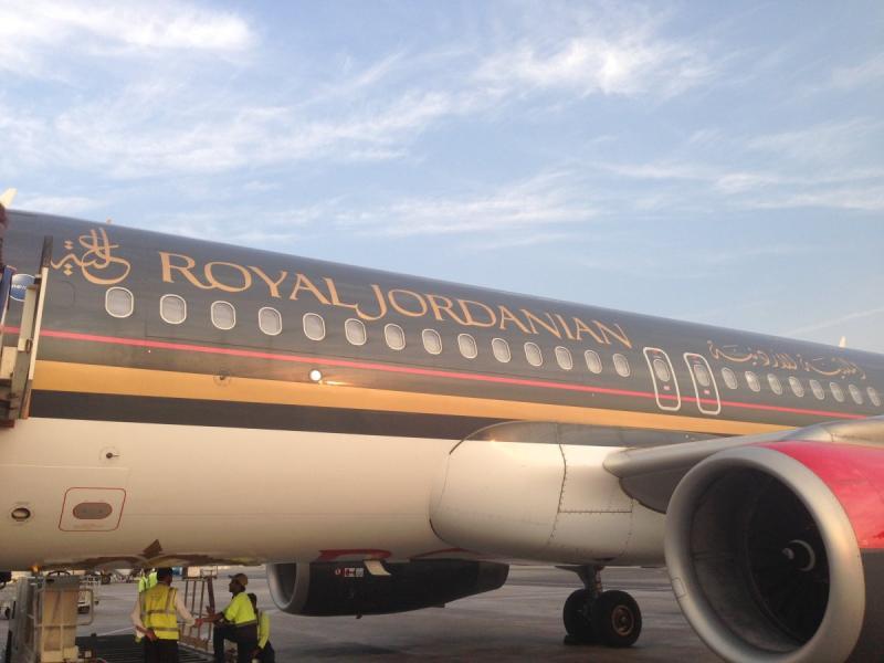 طائرة الملكية الأردنية في مطار #أبوظبي