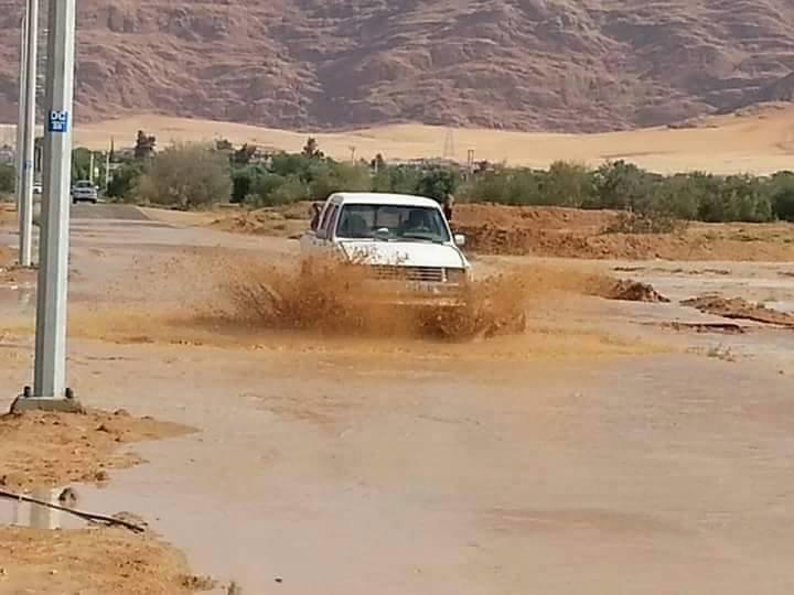 سيول منطقة الديسة في وادي رم #الاردن -1
