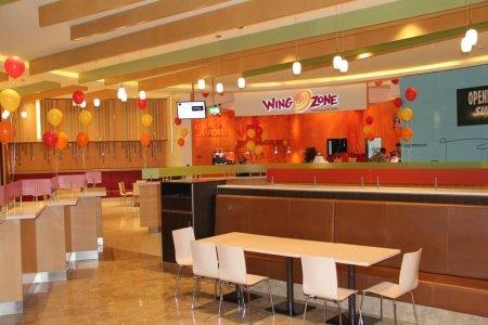 مطعم وينغ زون ردهة الطعام، الطابق الأول، بوتيك مول، سن اند سكاي تاور، جزيرة الريم، #أبوظبي