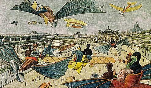 توقعات الفنان الفرنسي فاليمارد للعالم عام ٢٠٠٠ والتي رسمها عام ١٩١٠ - الأوبرا