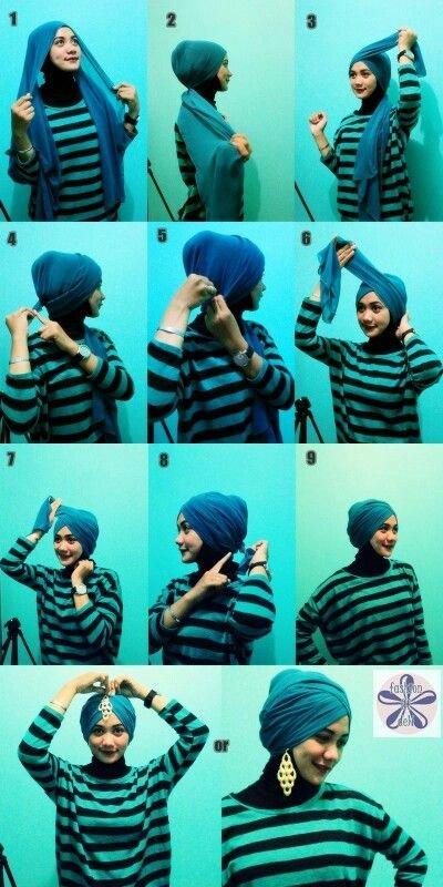 طرق أنيقه للف #الحجاب - 17
