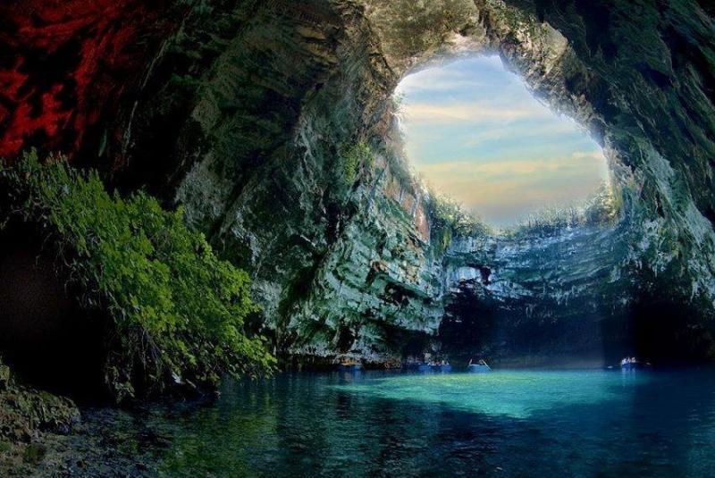 بحيرة الكهف في كيفالونيا #اليونان -8