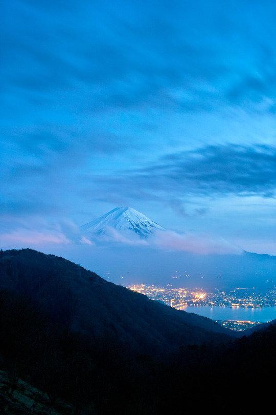 جبل فوجي في #اليابان قبل قليل