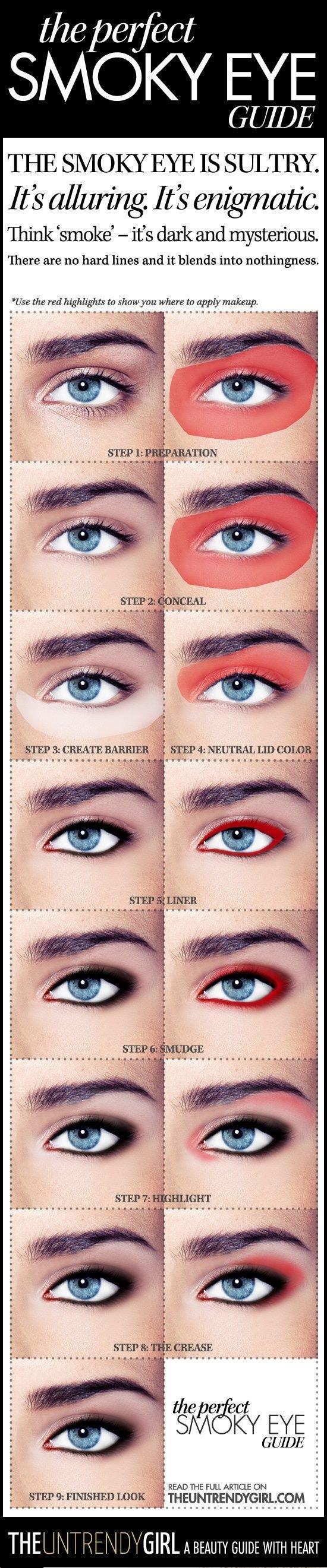 خطوات وضع #مكياج العيون -3