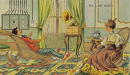 توقعات الفنان الفرنسي فاليمارد للعالم عام ٢٠٠٠ والتي رسمها عام ١٩١٠ - الجرائد الصوتية