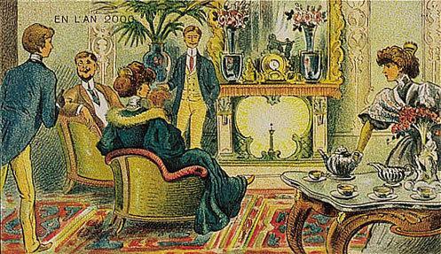 توقعات الفنان الفرنسي فاليمارد للعالم عام ٢٠٠٠ والتي رسمها عام ١٩١٠ - التدفئة بالراديوم