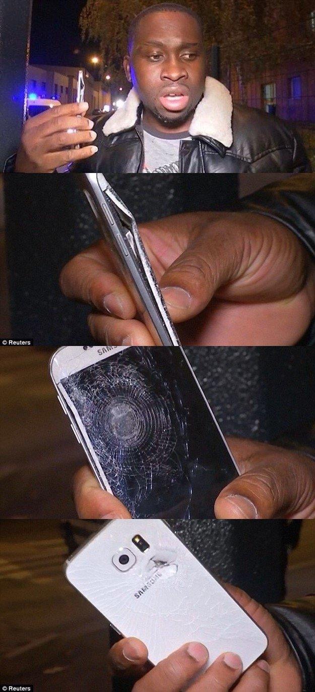 هاتف جوال أنقذ صاحبه من الموت في #تفجيرات_باريس