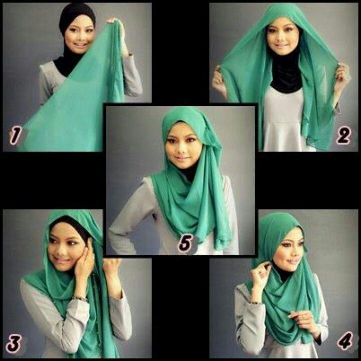 طرق أنيقه للف #الحجاب - 1