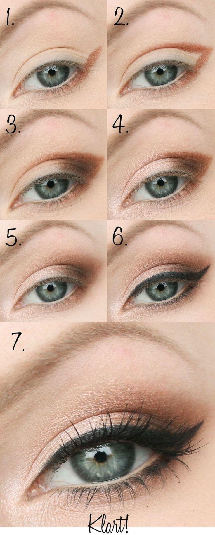 خطوات وضع #مكياج العيون -8
