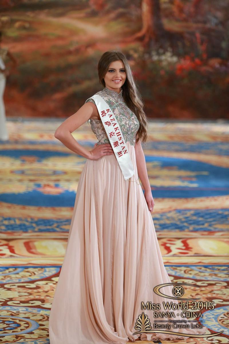 المرشحة في مسابقة #ملكة_جمال العالم 2015 من #كازخستان Regina VANDYSHEVA