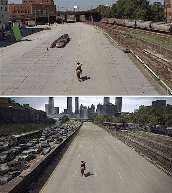 كيف تغير مؤثرات الأفلام الصورة من الاستديو لكما تراها على الشاشة - The Walking Dead