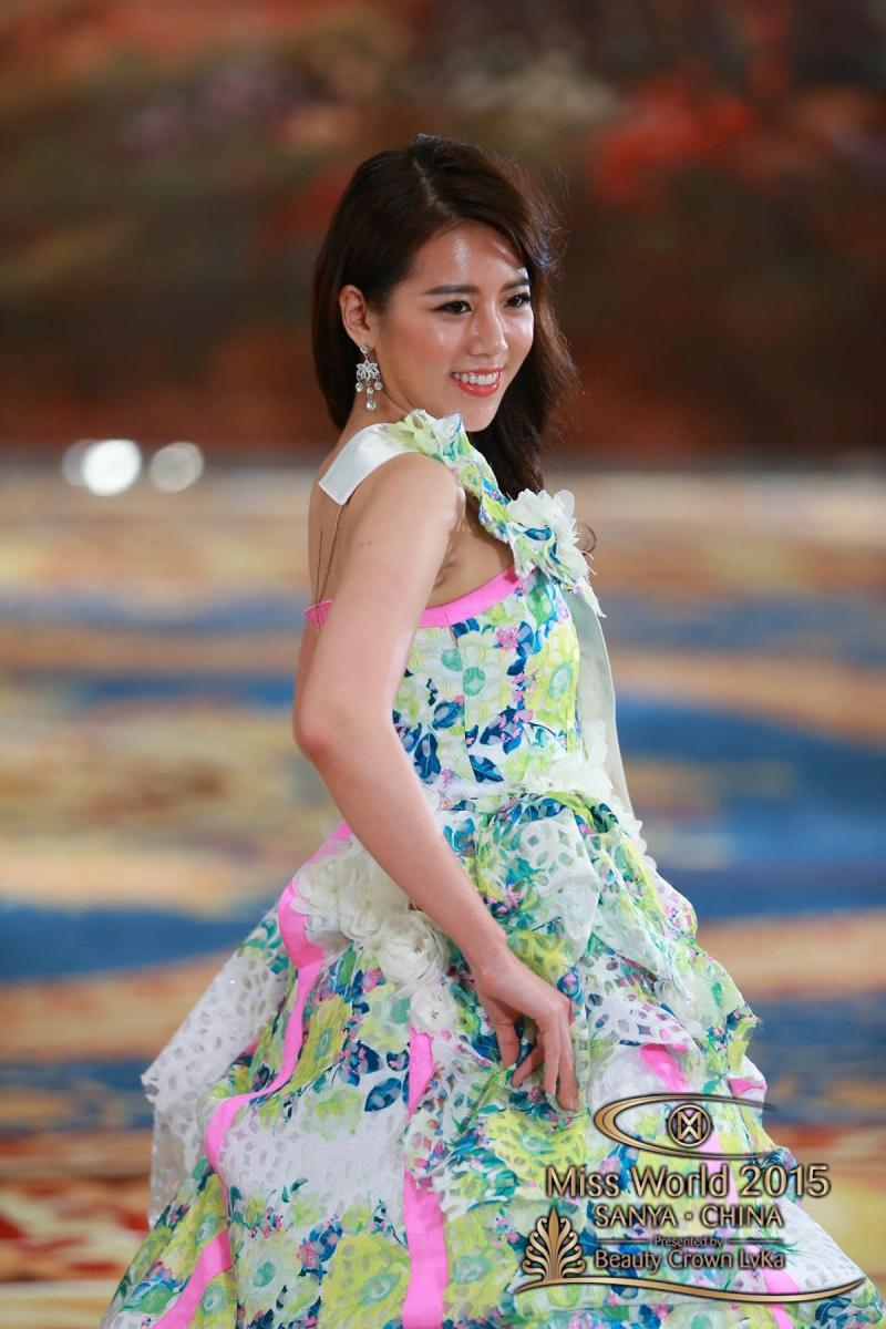 المرشحة في مسابقة #ملكة_جمال العالم 2015 من #كوريا Eun Ju CHYUNG