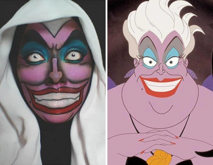 الفنانة الماليزية Saraswati محترفة في دهان الوجه والجسم تحول نفسها لأميرات ديزني #غرد_بصورة -13