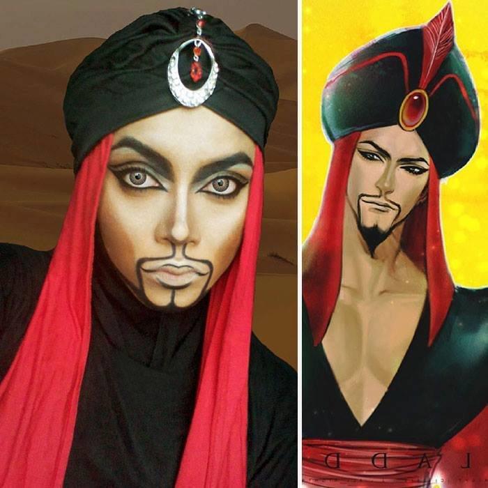 الفنانة الماليزية Saraswati محترفة في دهان الوجه والجسم تحول نفسها لأميرات ديزني #غرد_بصورة -11