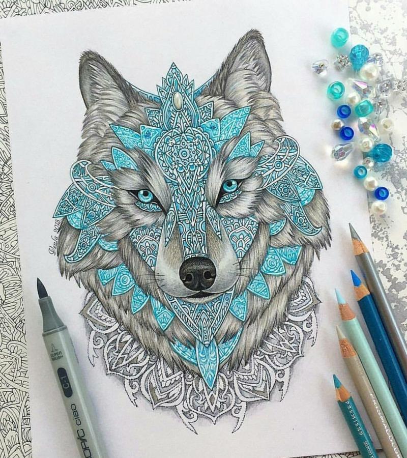 رسم دقيق جدا باستخدام الألوان الخشبيه