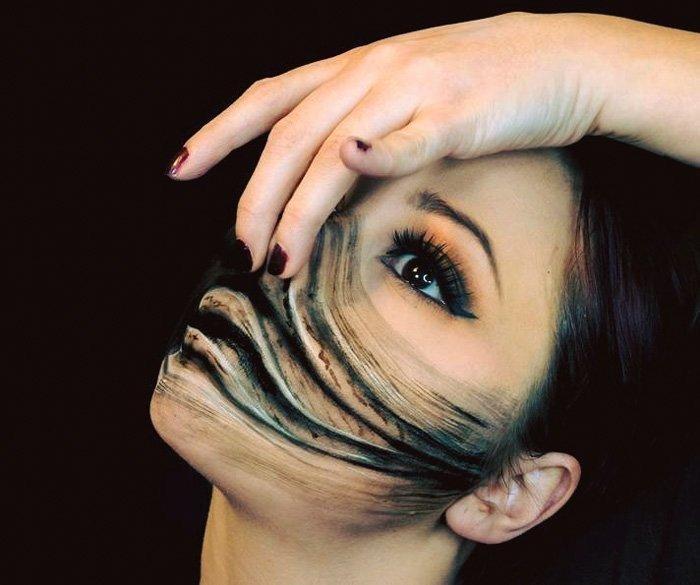 فن الرسم على الجسم باستخدام #الماكياج - صورة ١