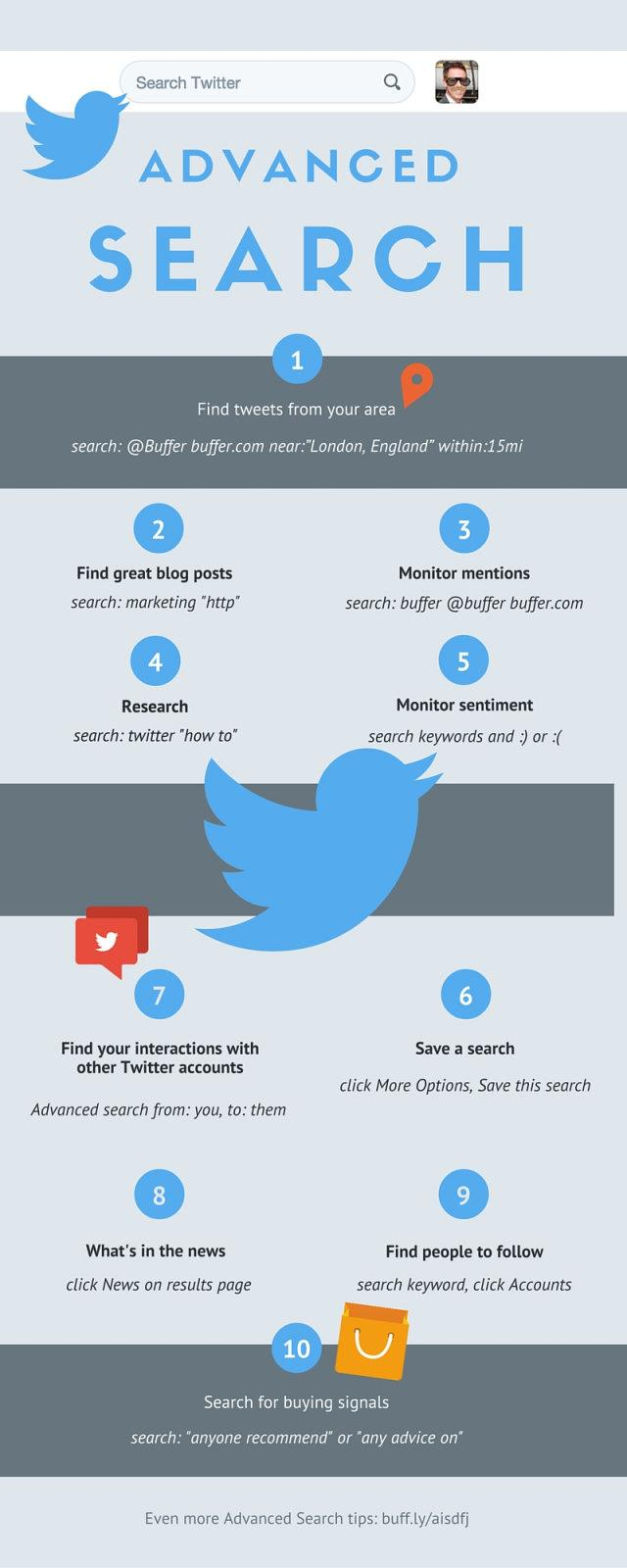 Ten tips to become a #Twitter power using search #Infographic