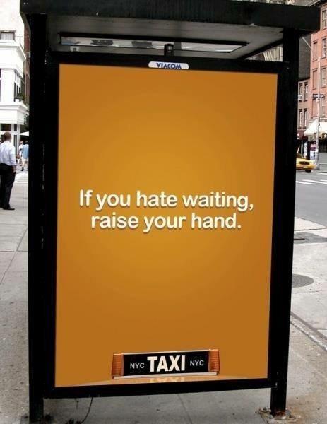 إعلان لتكسي #نيويورك #تسويق