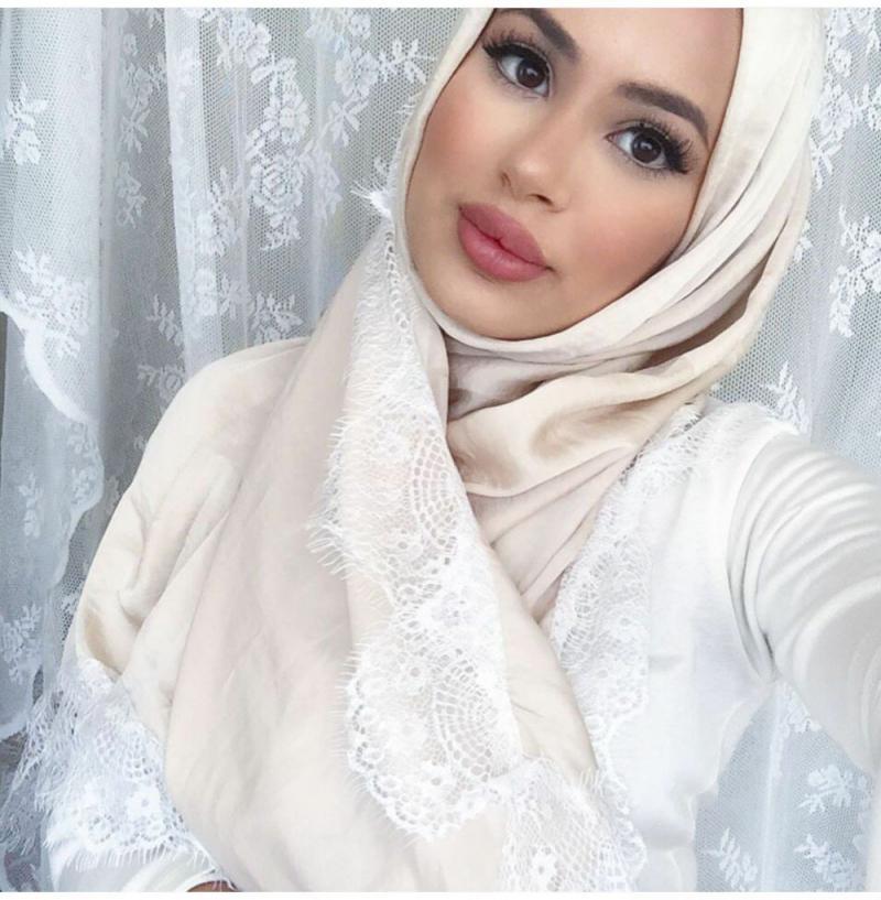 صور لفات #حجاب من الدانتيل #صور_بنات - صورة 5