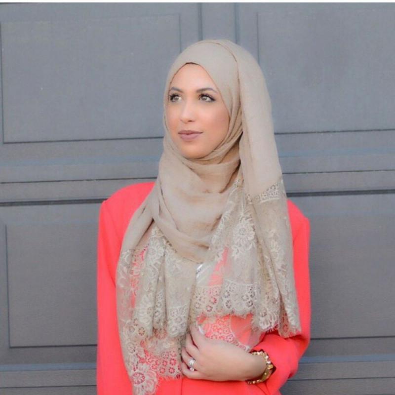 صور لفات #حجاب من الدانتيل #صور_بنات - صورة 7