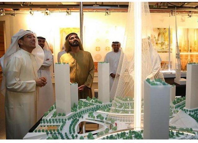 سمو الشيخ #محمد_بن_راشد يعتمد تصميم #برج_خور_دبي من #إعمار الأعلى في العالم - صورة ١