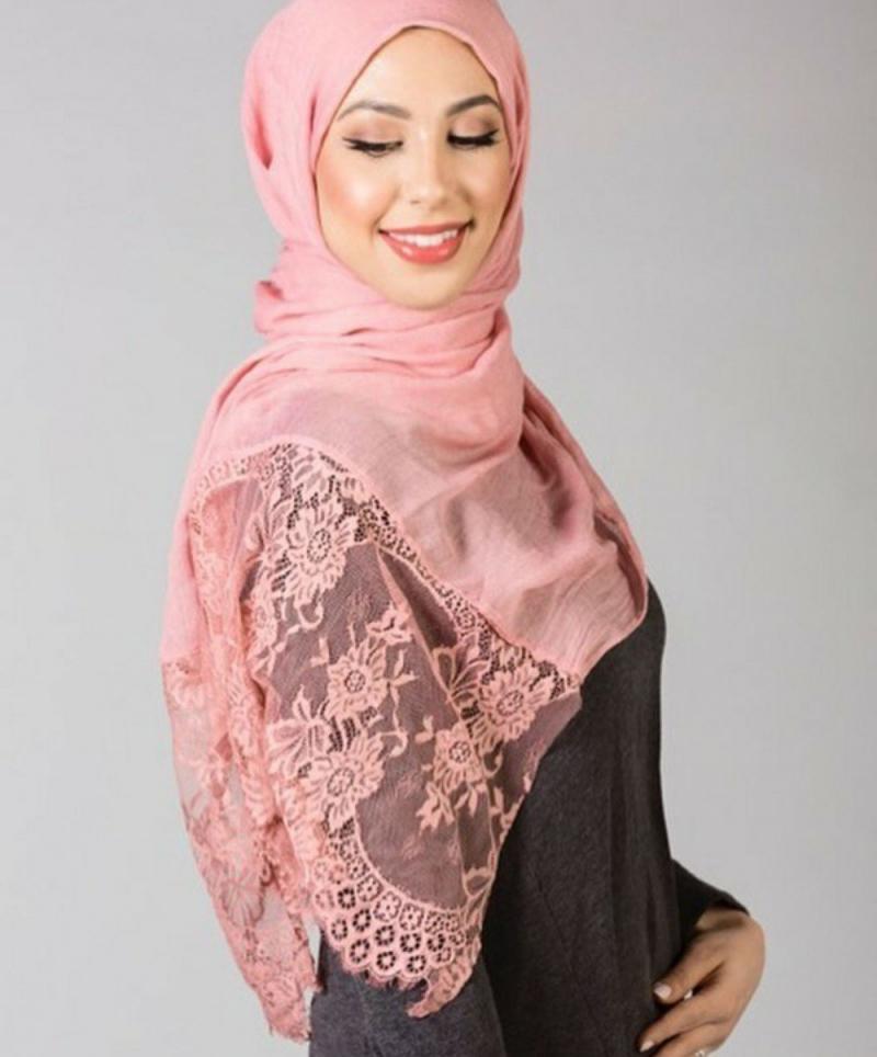صور لفات #حجاب من الدانتيل #صور_بنات - صورة 6