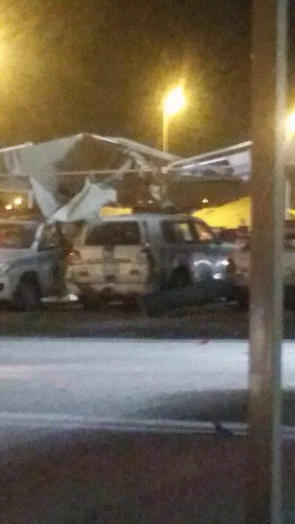 صور من موقع تفجير قرب مركز أمني #تفجير_الاحساء #السعودية - ١
