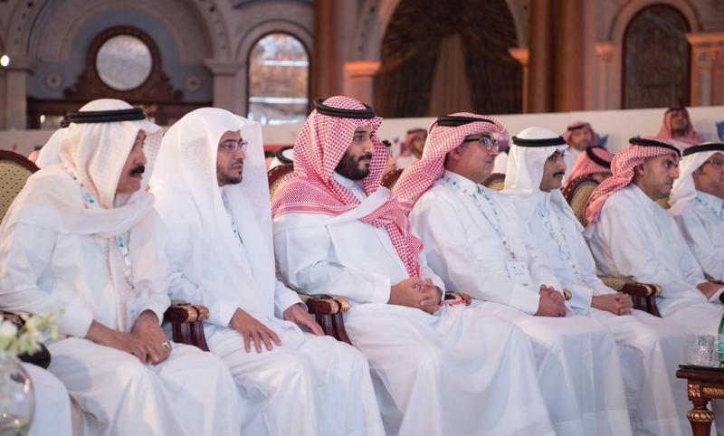 الأمير #محمد_بن_سلمان يفاجىء المدعوين بحضور مؤتمر #مغردون في السعودية