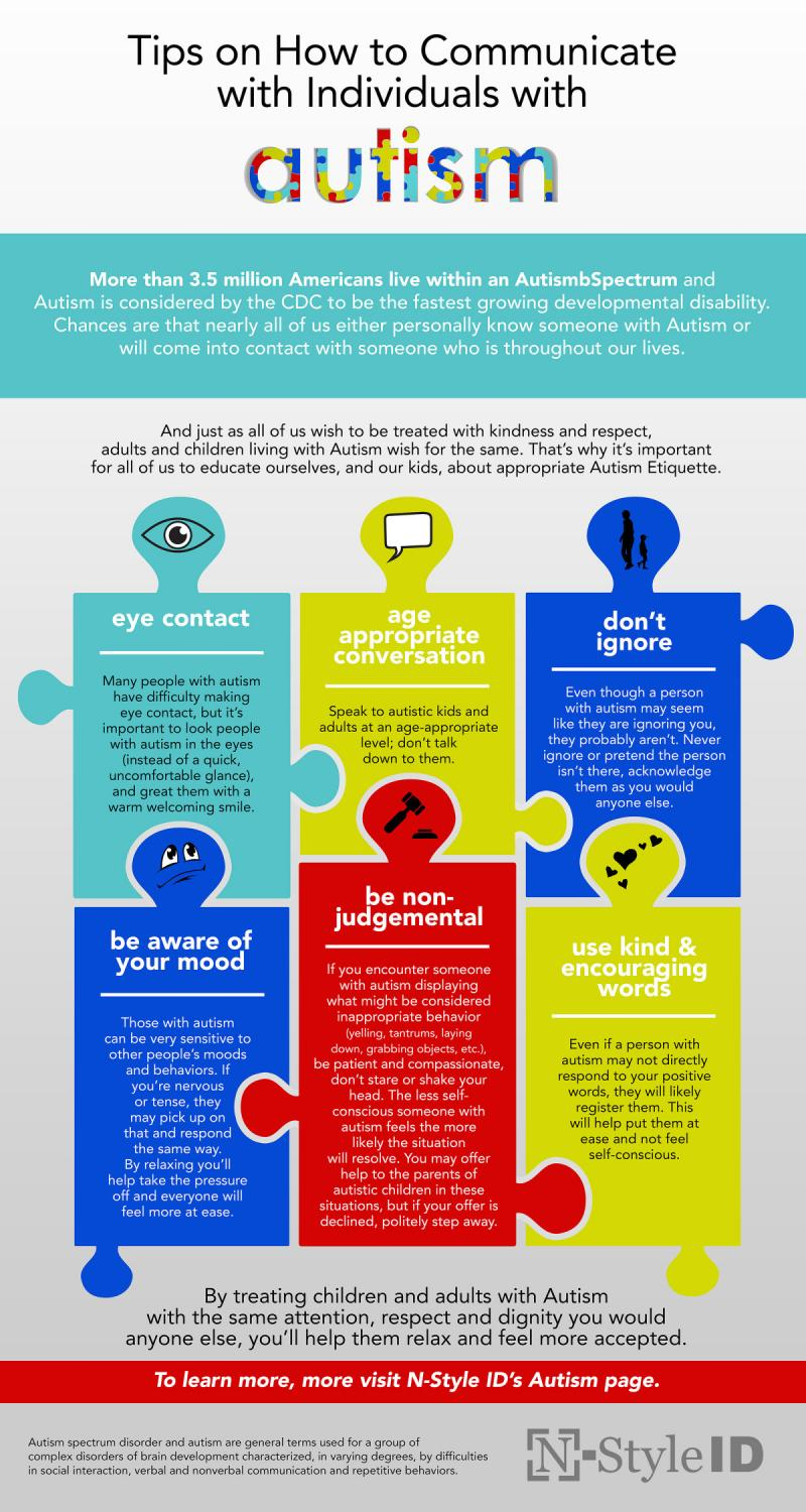 How to Communicate with kids with #Autism #Infographic
