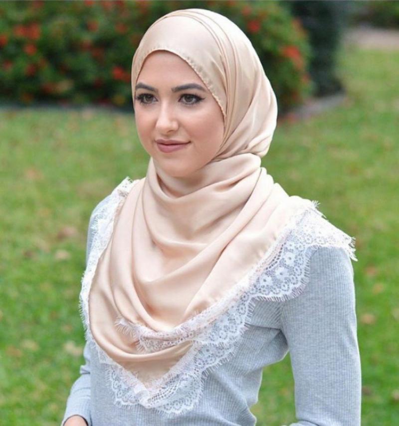 صور لفات #حجاب من الدانتيل #صور_بنات - صورة 1