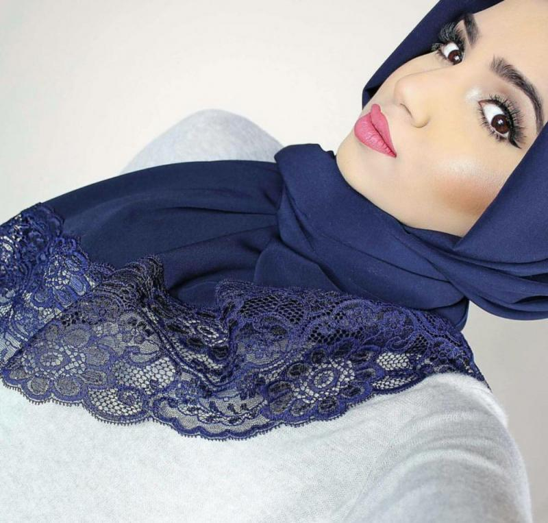 صور لفات #حجاب من الدانتيل #صور_بنات - صورة 8