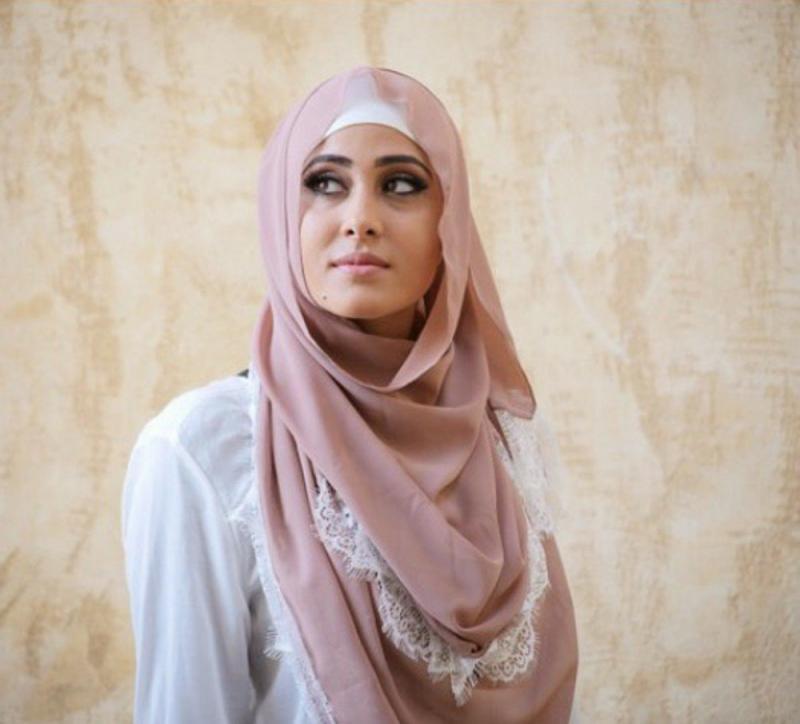 صور لفات #حجاب من الدانتيل #صور_بنات - صورة 2