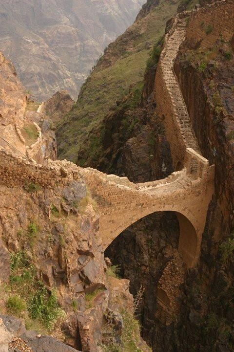 جسر شهارة في #اليمن من عجائب العمارة #تاريخ