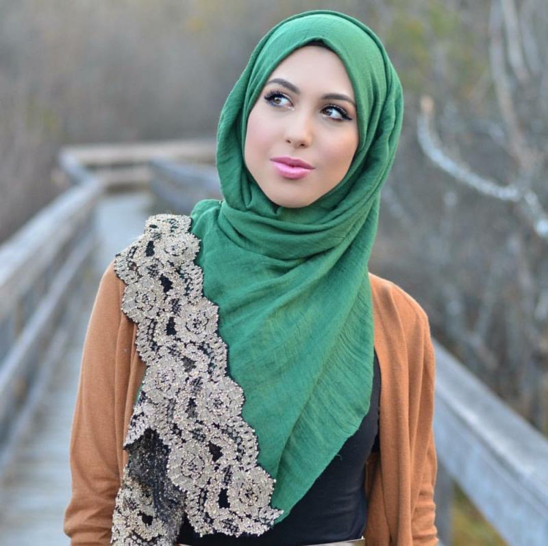 صور لفات #حجاب من الدانتيل #صور_بنات - صورة 3