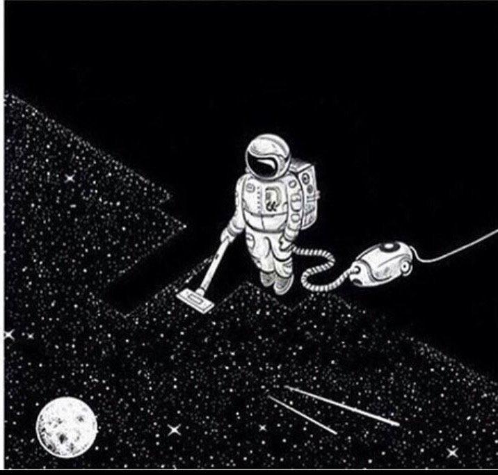 الأمهات صباح يوم الجمعة بعد انتقال البشر للعيش في الفضاء
