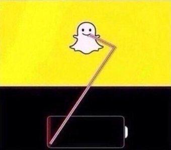 #سنابشات #Snapchat والبطارية