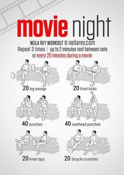 تمارين لشد وتقوية الجسم أثناء الوجود في المنزل - تمرين أثناء مشاهدة التلفاز #تخسيس