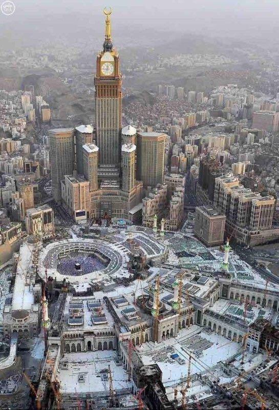 صورة مميزة للحرم المكي والكعبة المشرفة #مكة #السعودية